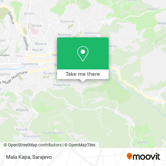 Mala Kapa map