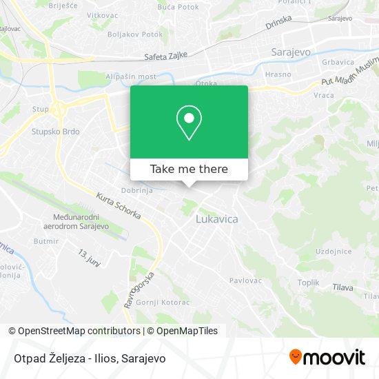 Otpad Željeza - Ilios map