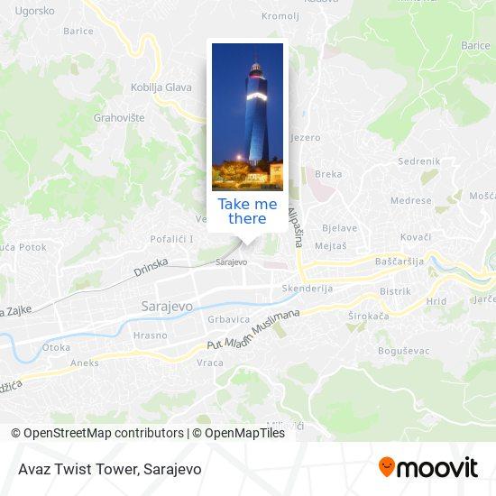 Avaz Twist Tower map