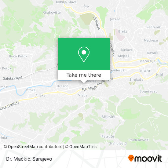 Dr. Mačkić map