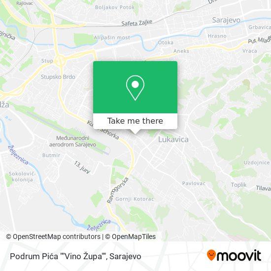 "Podrum Pića ""Vino Župa"" map"