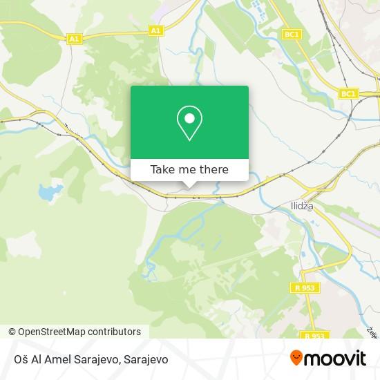Oš Al Amel Sarajevo map