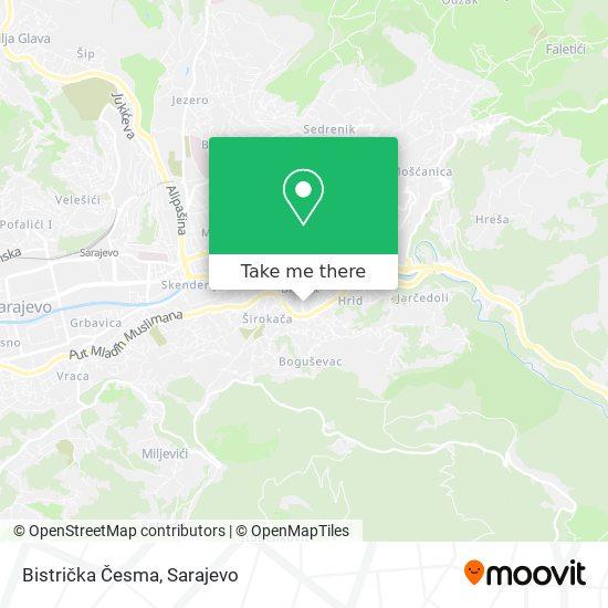 Bistrička Česma map