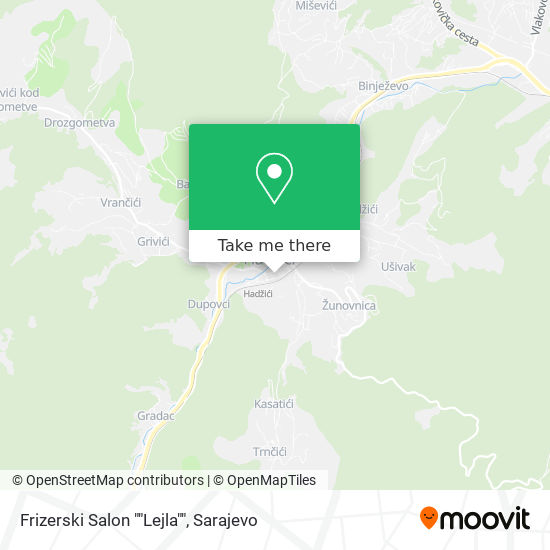 "Frizerski Salon ""Lejla"" map"