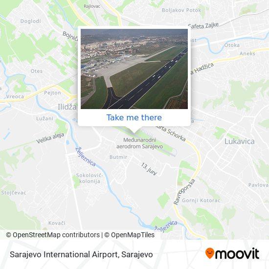 Sarajevo International Airport map