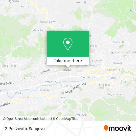 2 Put života map