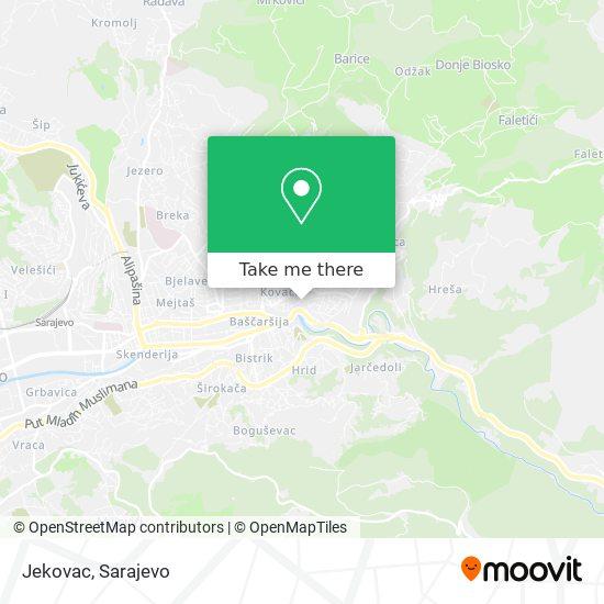 Jekovac map