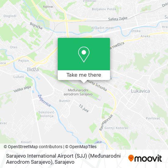 Sarajevo International Airport (SJJ) (Međunarodni Aerodrom Sarajevo) map