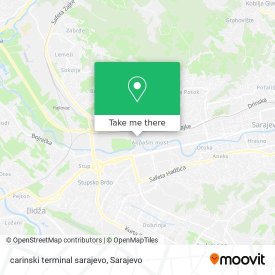 carinski terminal sarajevo map