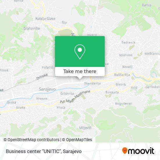"Business center  ""UNITIC"" map"