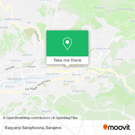 Başçarşı Saraybosna map