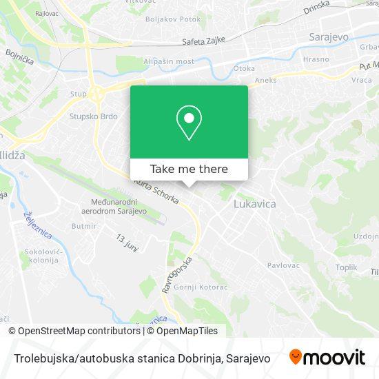 Trolebujska / autobuska stanica Dobrinja map