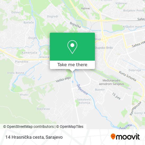 14 Hrasnička cesta map