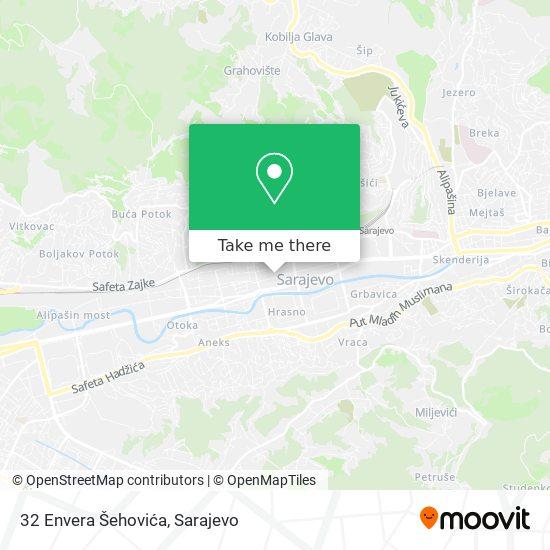 32 Envera Šehovića map