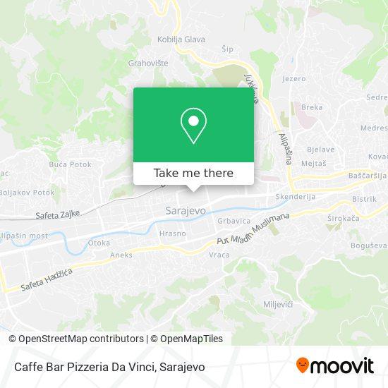 Caffe Bar Pizzeria Da Vinci map