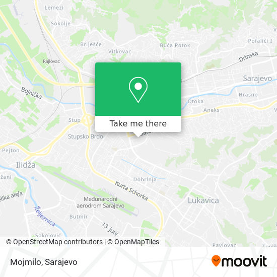 Mojmilo map