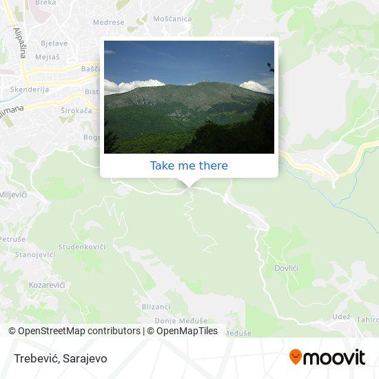 Trebević map