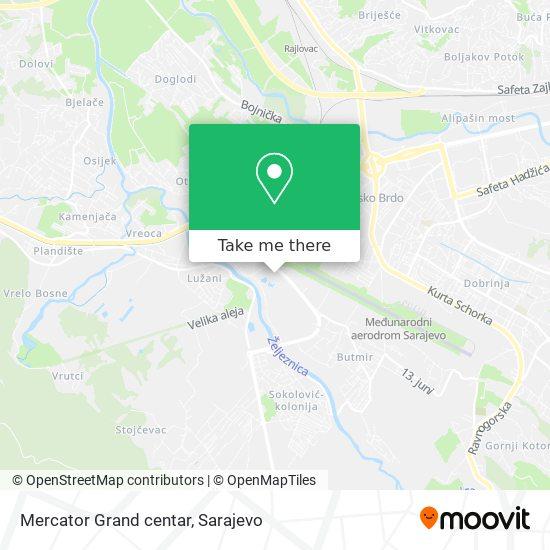 Mercator Grand centar map