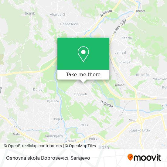 Osnovna skola Dobrosevici map