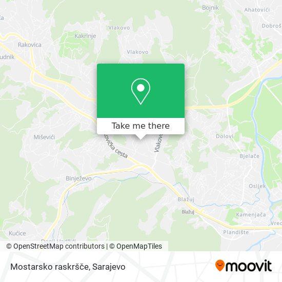 Mostarsko raskršče map