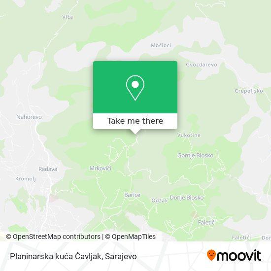 Planinarska kuća Čavljak map