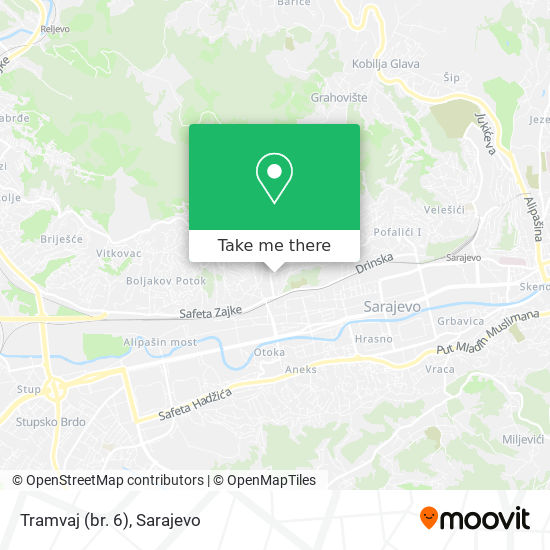 Tramvaj (br. 6) map