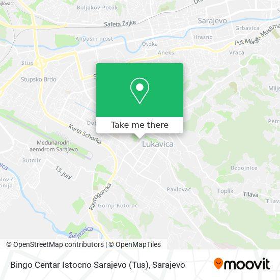 Bingo Centar Istocno Sarajevo (Tus) map