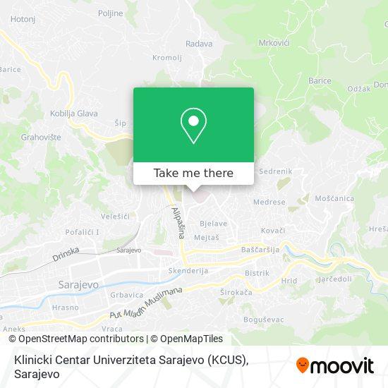 Klinicki Centar Univerziteta Sarajevo (KCUS) map