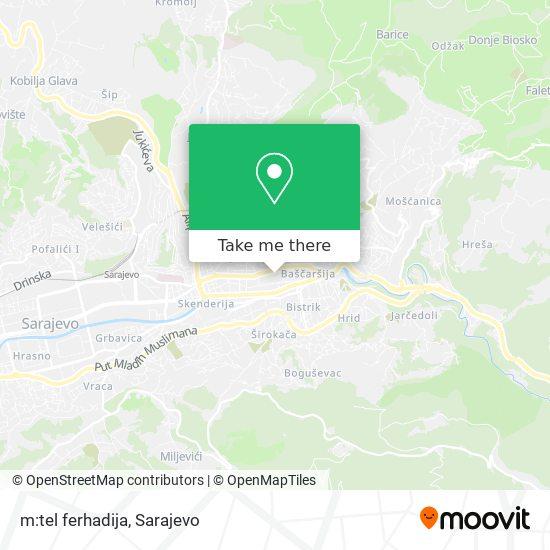 m:tel ferhadija map