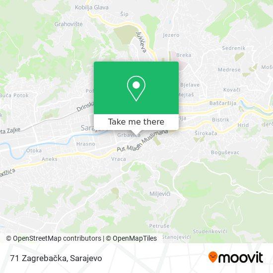 71 Zagrebačka map