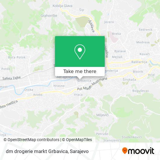 dm drogerie markt Grbavica map