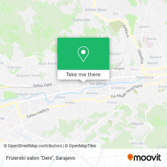 "Frizerski salon ""Deni"" map"