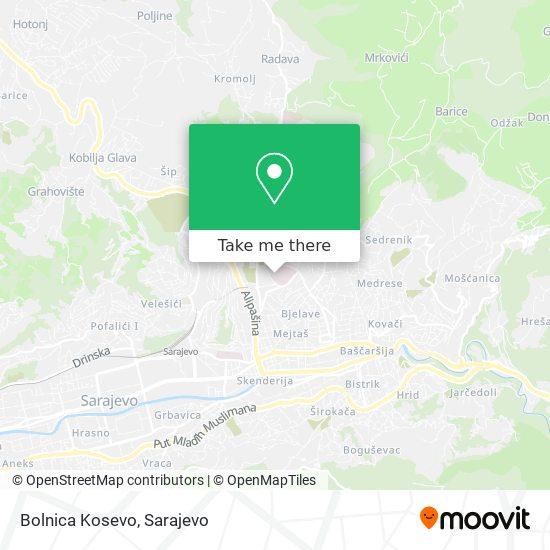 Bolnica Kosevo map