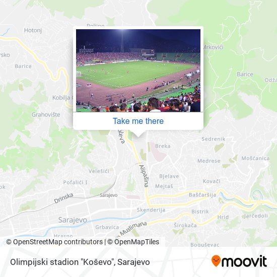 """Olimpijski stadion """"Koševo"""" map"""
