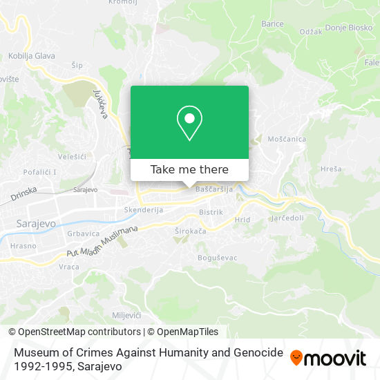 Museum of Crimes Against Humanity and Genocide 1992-1995 map
