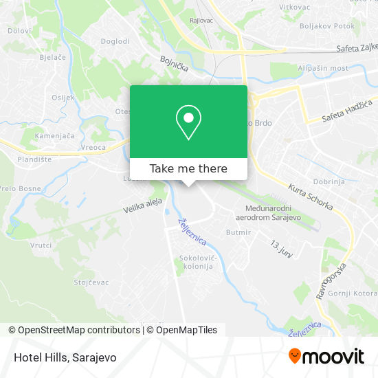 Hotel Hills map
