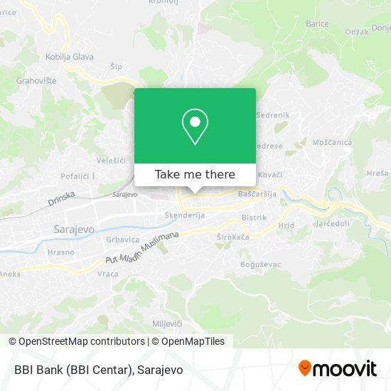 BBI Bank (BBI Centar) map