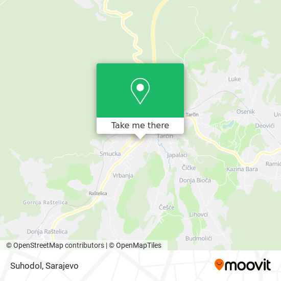Suhodol map