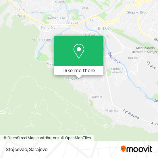 Stojcevac map