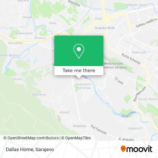 Dallas Home map