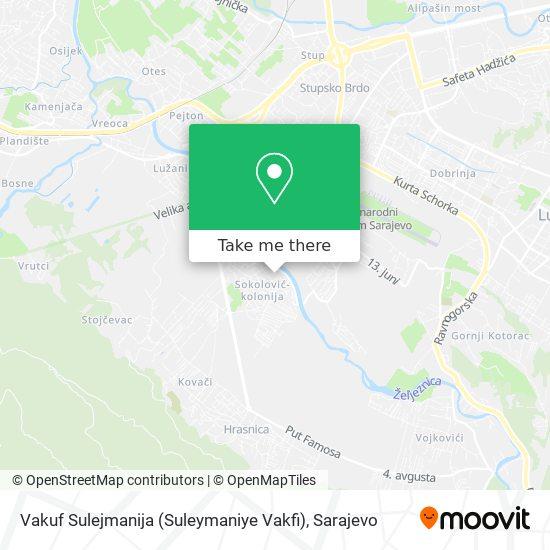 Vakuf Sulejmanija (Suleymaniye Vakfi) map