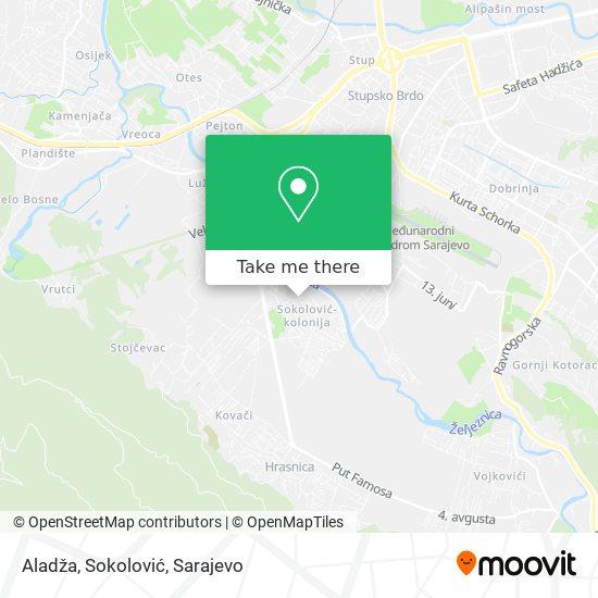 Aladža, Sokolović map