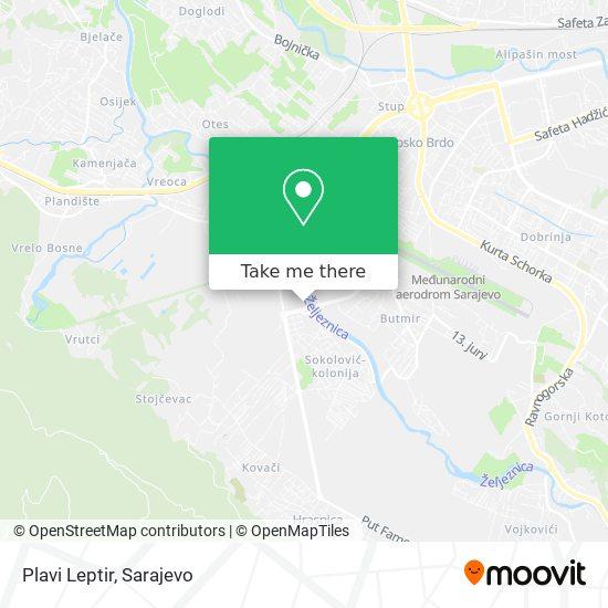 Plavi Leptir map