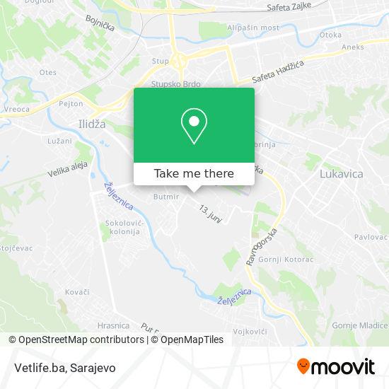 Vetlife.ba map