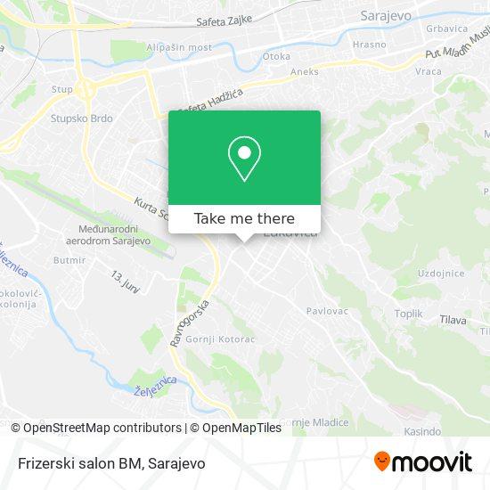 Frizerski salon BM map