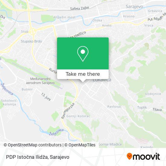 PDP Istočna Ilidža map