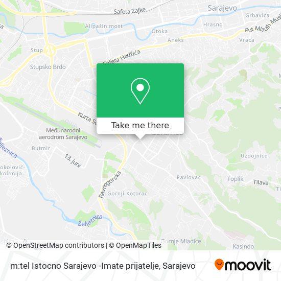 m:tel Istocno Sarajevo -Imate prijatelje map