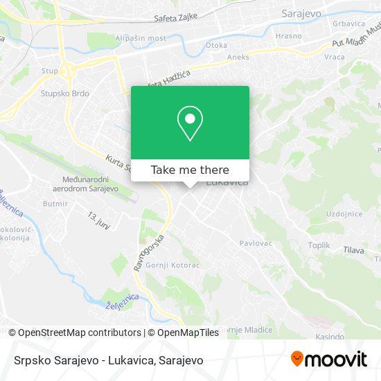 Srpsko Sarajevo - Lukavica map