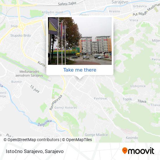 Istočno Sarajevo map
