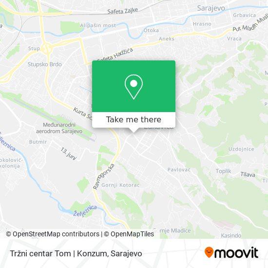 Tržni centar Tom | Konzum map